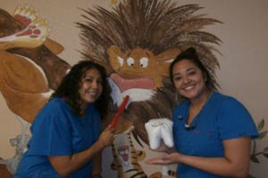 Photo of staff with stuffed tooth